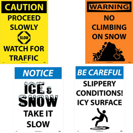 Snow Safety Signs