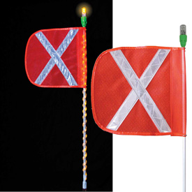 Checkers LED Lighted Warning Whips