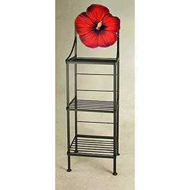 Art Silhouette Bakers Racks-Flower Theme