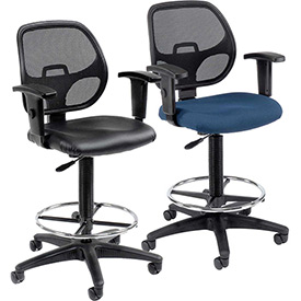 Interion™- Mesh Back Drafting Stools
