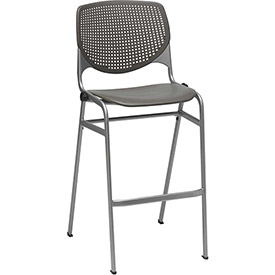 KFI - Poly Stack Stool Chair with Perforated Back