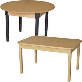 Wood Design - Activity Table with Hardwood and Adjustable Legs