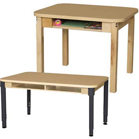 Wood Designs - Desks with Bookbox Fixed and Adjustable Height