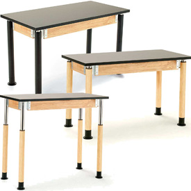 National Public Seating® - Chemical Resistant Adjustable Height Science Table