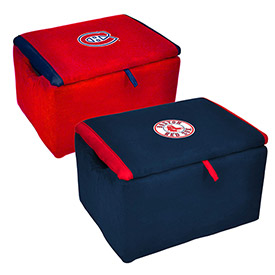 Foam Padded Storage Benches - MLB, NFL & NHL Logo Series