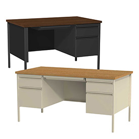 Hirsh Industries® - HL10000 Series Commercial Steel Pedestal Desks