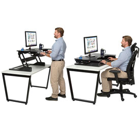 Sit and Stand Monitor Desktop Platforms