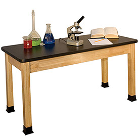 Wooden Frame Science Lab Tables