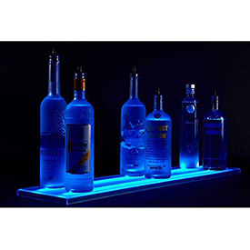 Single Level LED Light Shelf