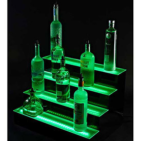 Multi Tiered LED Light Shelf