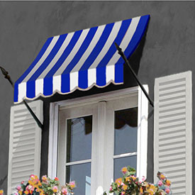 Awntech 4-3/8'W Spear Arm Awnings with Crescent Slope
