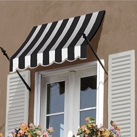 Awntech 8-3/8'W Spear Arm Awnings with Crescent Slope