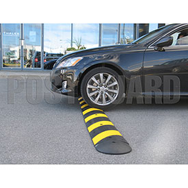 Post Guard® Rubber Speed Bumps