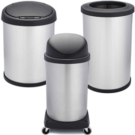 Shop-Can® Stainless Steel Waste Cans