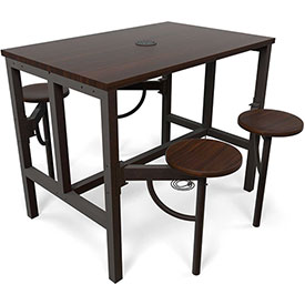 OFM - Endure Series Standing Height Tables with Attached Seats