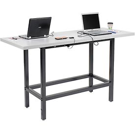 Standing Height Café Table with Plastic Laminate Top
