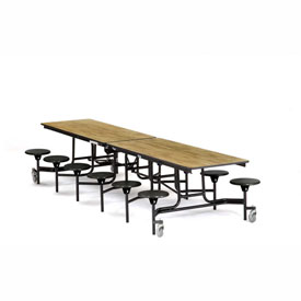 National Public Seating® - Portable Cafeteria Stool Unit w/ Particleboard Core Top