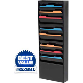 Multi-Pocket Medical Chart & Literature Display Racks