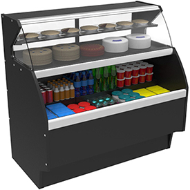 Combination Service/Self-Service Display Cases