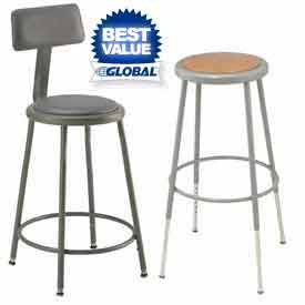 Interion® Round Seat Shop Stools