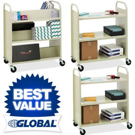 Bretford Steel Book Storage Carts
