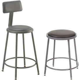 Interion® Vinyl Upholstered Shop Stool