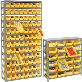 Steel Shelving With Plastic Shelf Bins