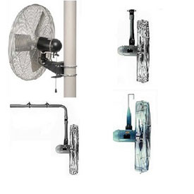 TPI Washdown Mounted Industrial Fans