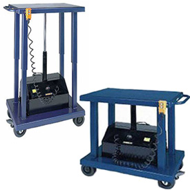 Wesco Battery Powered Work Positioning Mobile Post Lift Tables