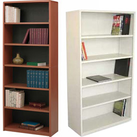 Steel - Full Height, Easy Assembly Bookcases