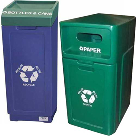 Plastic Recycling Trash Cans