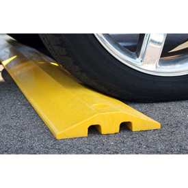High Visibility Plastic Speed Bump With Cable Protection