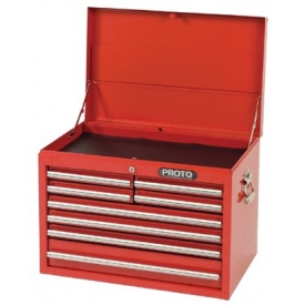 "Proto J442719-8RD 440SS 27"" Top Chest - 8 Drawer, Red, 27""L X 19""H X 18""D"