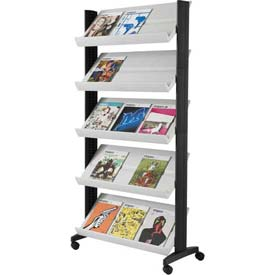 Paperflow Single Sided XL Literature Display Gray