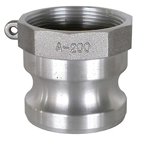 "1-1/2"" Aluminum Camlock Fitting - Male Coupler x FPT Thread"