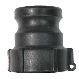 "1-1/4"" Polypropylene Camlock Fitting - Male Coupler x FPT Thread"