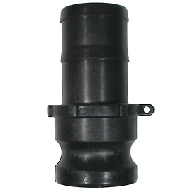 "1"" Polypropylene Camlock Fitting - Male Barb x Male Coupler Thread"
