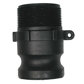 "3"" Polypropylene Camlock Fitting - Male Coupler x MPT Thread"