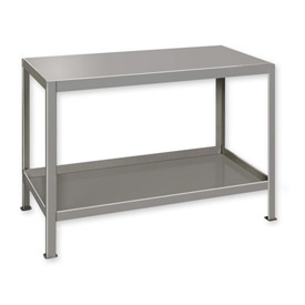 "Heavy Duty Machine Table w/ 2 Shelves - 30""W x 18""D Gray"