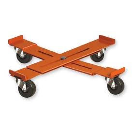 Pucel™ AD-23 Adjustable Drum Dolly Rubber Casters - 23-1/2 to 36-1/2