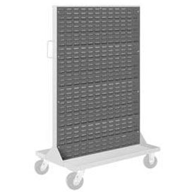 "Pucel Louvered Panel 36"" x 61"" for Portable Bin Cart Gray"