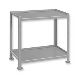 "Pucel™ TU-2028-2 Mobile Table 2 Shelves with 5"" Casters - 28""L x 20""W"