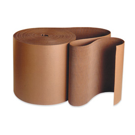 "6 Single Face Corrugated Kraft ""A"" Flute Corrugated - 250' / Roll"