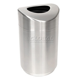 "Open Top Receptacle, Stainless Steel, 30 gal., 20""Dia x 35.5""H"