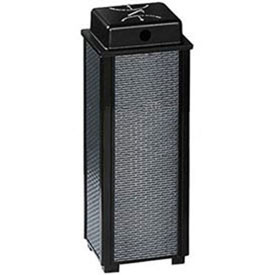 "Hinged Top Urn And Waste Receptacle, Black, 29 gal., 21""Sq x 43""H"