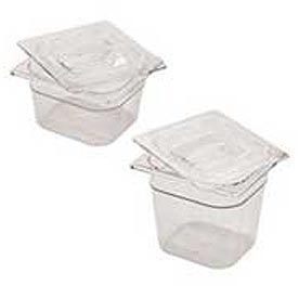 Rubbermaid Commercial FG108P23 CLR - Cold Food Container Cover - Pkg Qty 6