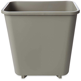 Rubbermaid® 8 Qt. Deskside Rectangular Plastic Wastebasket, Beige - RCP2952BEI