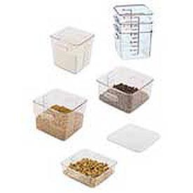 Rubbermaid Commercial FG630800CLR Square Space-Saving Container - 8 Quarts - Pkg Qty 6