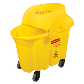 Rubbermaid Wavebrake® 8-3/4 Gallon Institutional Bucket/Strainer Combo, Yellow - RCP759088YEL