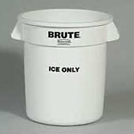 "Rubbermaid Commercial FG9F8600WHT, Brute® ""Ice Only"" Container - Pkg Qty 6"